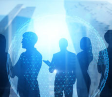 business-teams-on-blue-background